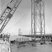 Image of 2015.001.05498.1 - Construction of the San Mateo-Hayward Bridge, 1964