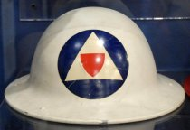 Image of Civilian Defense Auxiliary Police Helmet, c. 1942-1945