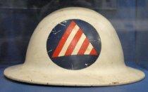Image of Civil Defense Air Raid Warden Helmet, c. 1942-1945