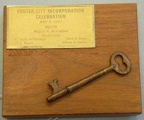 Image of Foster City Incorporation Celebration Key, 1971