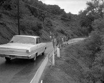 Image of 2015.001.04222 - Boy Scout Hike along Crystal Springs Road in San Mateo, April 1963