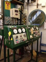 Image of General Electric Electron Beam Generator Console, 1957 (at Tyco facility)