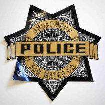 Image of Broadmoor Police Car Emblem, n.d.