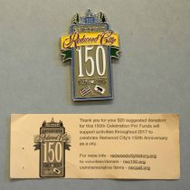 Image of Celebrate Redwood City 150 Pin, 2017