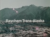"Image of 2017.006.001 - Raychem Trans-Alaska, c. 1975-1976. One 16mm color film with sound, approximately 500' and 13 minutes 42 seconds. The film shows the production and installation of a corrosion protection material called Arcticlad, which Raychem developed for coating pipelines during the construction of the Trans-Alaska Pipeline. The film was originally stored in a brown metal film canister, 9.5"" diameter x 1"" with a Raychem Corporation label covered with a business card for Rodney L. Derbyshire. A piece of broken leader stored with the film has handwritten text in black ink that reads, ""Raychem Trans-Alaska."""