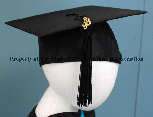 2017.008.043.42A - Graduation Cap, 1993. Graduation cap made of ...