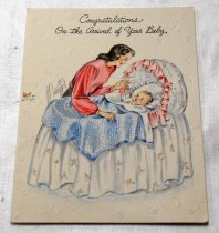 Image of 2017.008.031.1.1 - Baby Greeting Card to JoAnn Semones, 1945
