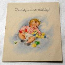 Image of 2017.008.031.1.6 - Baby Greeting Card to JoAnn Semones, 1945