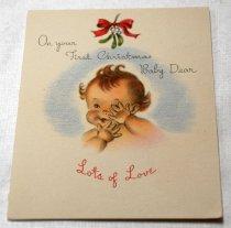 Image of 2017.008.031.1.7 - Baby Greeting Card to JoAnn Semones, 1945
