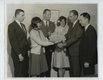 Image of 2017.054.001.2 - Untitled [Presenting a Bouquet to Roy Archibald], April 7 ,1965