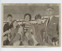Image of 2017.054.002.15 - Untitled [Shirley Temple Black on stage with her family], November 15, 1967