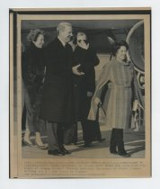Image of 2017.054.002.17 - Untitled [Shirley Temple Black with Secretary of State James Baker and his wife at Prague airport], February 6, 1990