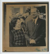 Image of 2017.054.002.18 - Untitled [Shirley Temple Black and Secretary of State James Baker at Prague ceremony], Feburary 7, 1990