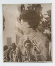 Image of 2017.054.002.36 - Untitled [Shirley Temple Black's announcement at news conference at Villa Chartier Hotel, San Mateo, CA], August 29, 1967