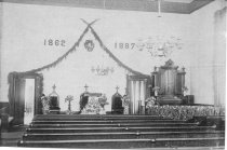 Image of 0000.217.003.3 - Old Congregation Church Interior, 1887