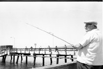 Image of Fishing off Pacifica Pier, 1964