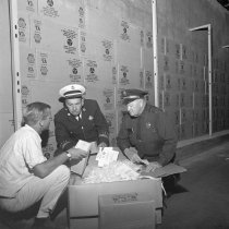 Image of 2015.001.05739.1 - Civil Defense Supplies in Storage Tunnel at Hillsdale Shopping Center, 1964