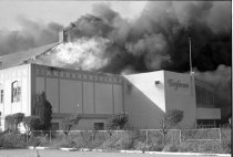 Image of 2015.001.05881.1 - Tanforan Racetrack on Fire, 1964