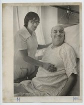 Image of 2017.054.004.21 - Untitled [Photograph of John Borlo in a hospital bed], October 21, 1974