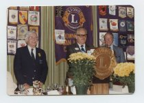 Image of 2017.054.004.25 - Untitled [Color photograph of Glen E. Born at Downtown San Mateo Lions International Club], August 14, 1980