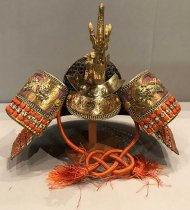 Image of Japanese Boys Day Samurai Helmet Decoration