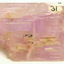 Image of Spodumene, var. Kunzite from Chief Mine in Pala, CA.