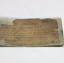 Image of Historic specimen label for Bitumen, 11914.