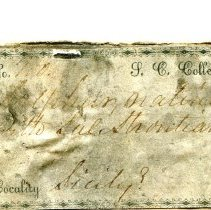 Image of Historic specimen label for Sulfur, 0149.