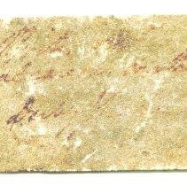 Image of Historic specimen label for Pyrite, 10075.
