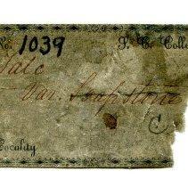 Image of Historic specimen label for Talc, 11254.