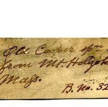 Image of Historic specimen label for Gabbro, 11288.