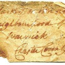 Image of Historic specimen label for Garnet, 11306.