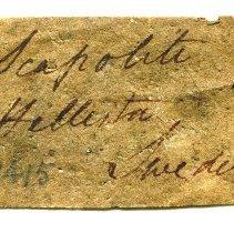 Image of Historic specimen label for Scapolite, 12046.