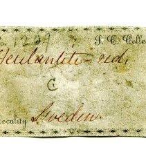 Image of Historic specimen label for Heulandite, 1209.