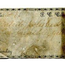 Image of Historic specimen label for Marble, 12478.