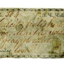 Image of Historic specimen label for Marble, 12479.