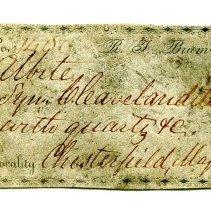 Image of Historic specimen label for Albite, 1400.