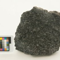 Image of Acanthite, 11091 with scale bar.