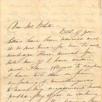 Image of Letter from HAR to Mr. Rhett(?) - Letter
