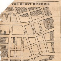 Image of The Burnt District [map] 1838 Ansonborough Fire - Map
