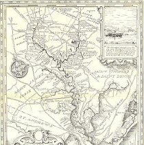 Image of Map Showing Cooper River Plantations