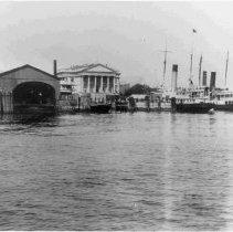 Image of Custom House & Docks - ca. 1898-1912