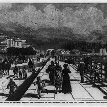 Image of Promenade on the Southern End of East Bay Street, Charleston - 1880