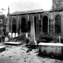 Image of St. Johns Luth Cemetery After 1886 Earthquake