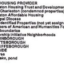 Image of City of Charleston Homeowner Initiative Proposed Property Acquisitions:  Housing Provider Map - Map