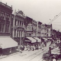 Image of Crowd Before the 5 & 10 Cent Store - ca. 1898-1912