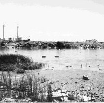 Image of Marshy Area with Ship - ca. 1950s