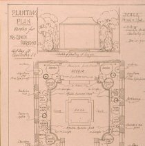 Image of Planting Plan, Garden for Mrs. Edwin Parsons