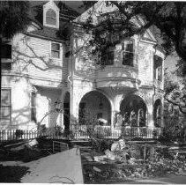 Image of 2 Meeting Street (Carrington-Carr House) After Hurricane Hugo - 1989