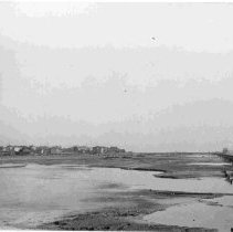 Image of View from Chisolm's Mill Across Mud Flats [Murray Boulevard Construction] - ca. 1909